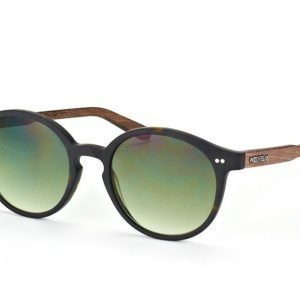 Wood Fellas Solln 10763 havanna/green Aurinkolasit